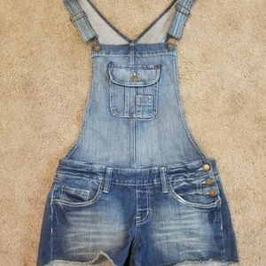 Size M Denim Short Overalls